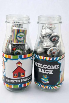 Back to School Printable Bottle Wrappers