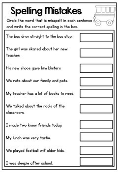 Back to School Math and Literacy Printable Bundle