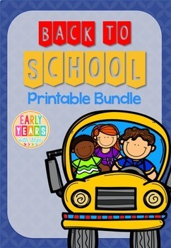 Back to School Math and Literacy Printable Bundle