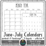 Teacher Binder 2018-2019 Calendars