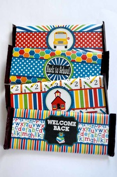 Back to School Printable Candy Bar Wrappers
