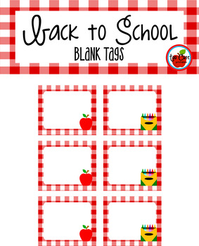 Back to School Printable Cubby Tags