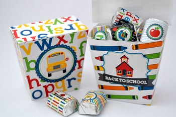 Back to School Printable Favor Boxes