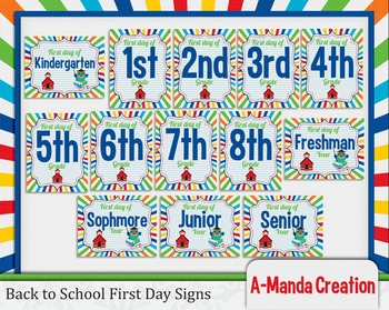 Back to School Printable First Day Photo Prop Signs