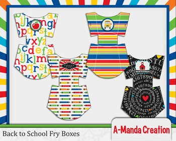 Back to School Printable Fry Boxes