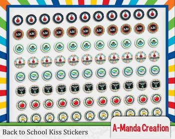Back to School Printable Kiss Stickers