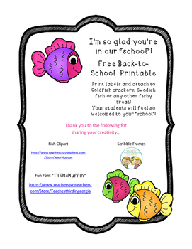 Back to School Printable Labels