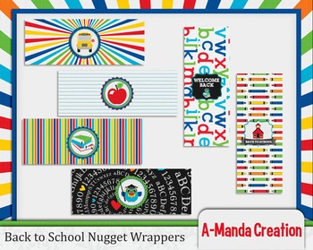Back to School Printable Nugget Wrappers