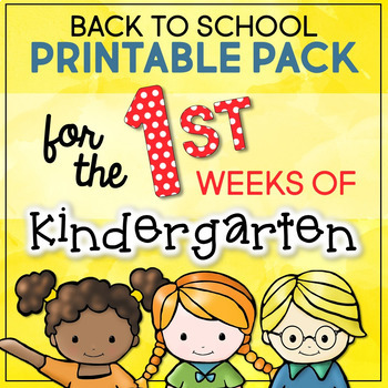 Back to School Printable Pack for the First Weeks of Kindergarten