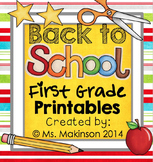 September Printables - First Grade Literacy and Math