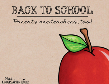 Back to School Printable - Parents are teachers, too!