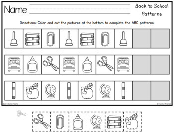 Back to School Pattern Printables