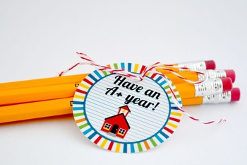 Back to School Printable Round Tags, have an A+ year!
