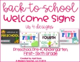 Back to School Welcome Signs Free Download