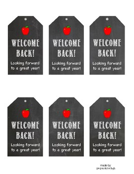 Back to School Printable Tags for Students - Back to School Chalkboard Tags