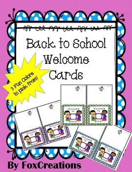 Back to School Printable Welcome to Grade  Notecards