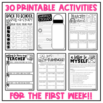 Back to School Activities for the Beginning of the Year