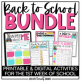 Back to School Activities | Beginning of the Year BUNDLE |