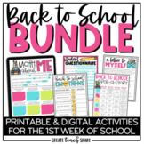 Back to School Activities | Beginning of the Year BUNDLE |