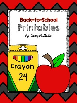 Back-to-School Printables