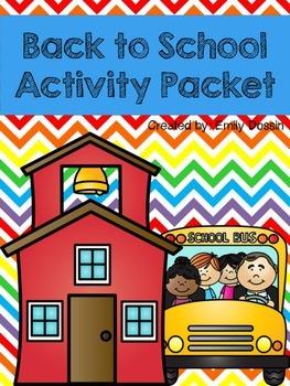 First Week, Back to School Printables!