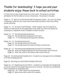 Back to School Printables