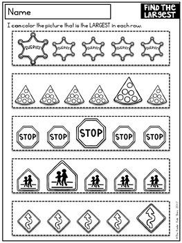 Back to School Worksheets Kindergarten
