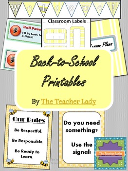 Back to School Printables - Elementary Edition