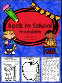 Back to School Printables - Freebie