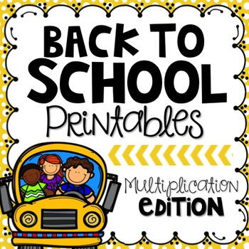 Back to School Printables {Multiplication Edition}