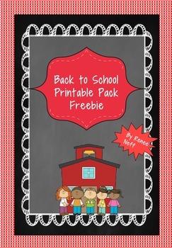 Back to School Printables Packet Freebie