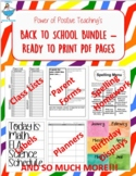 Back to School Printables PDF and Editable (Powerpoint) -