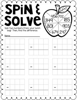 Back to School Printables {Subtraction Edition}