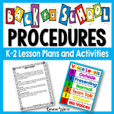 Back to School Procedures with Lesson Plans