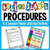 Back to School Classroom Procedures