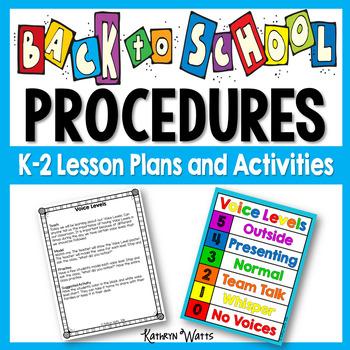 Back to School Procedures Lesson Plans