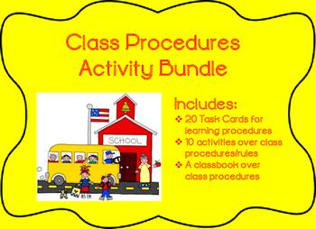 Back to School Procedures Activity Bundle