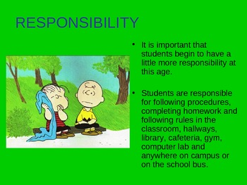 Back to School Procedures-Charlie Brown