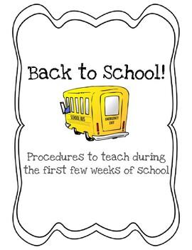 Back to School Procedures Checklist