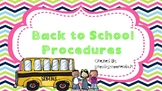 Back to School Procedures Powerpoint EDITABLE Melonheadz