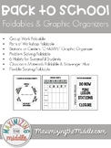 Back to School Procedures Foldables & Graphic Organizers f