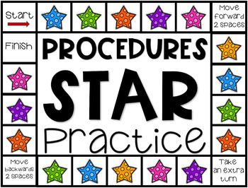 Back to School Procedures Game and Posters for 2nd - 5th Grade
