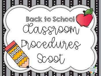 Back to School Procedures Scoot