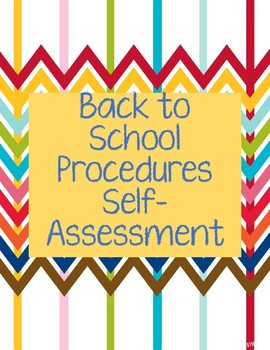 Back to School Procedures Self-Assessment