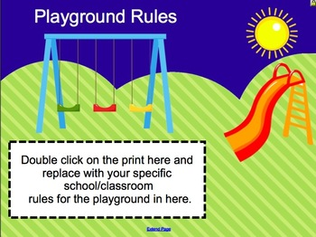 Back to School Editable Smartboard Procedure Slides