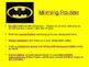 Back to School Procedures-Superhero Theme