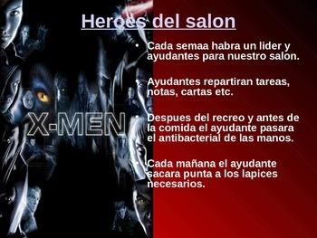 Back to School Procedures (Superheroes) - Spanish
