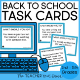 Back to School Procedures Task Cards: Print and Digital |
