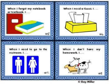 Back-to-School Procedures Task Cards