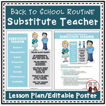FREE Back to School Procedures When Have a Substitute Teacher